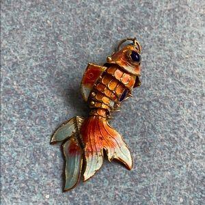 Jewelry - Vintage Koi Fish Necklace Charm